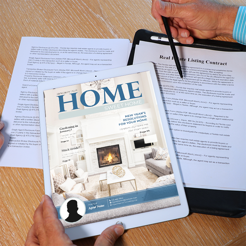 Listing Contract and a Digital Magazine
